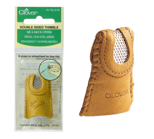 Clover Leather Thimble Natural Fit Select Size