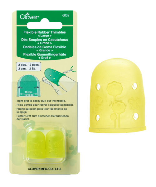 2 Pack Clover Leather Double Sided Thimble-
