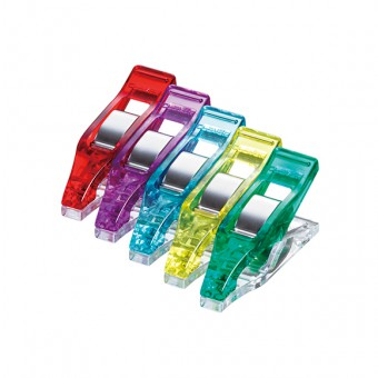 New 5 Colors-Red Clover Mini Wonder Clips 50 Pcs Purple Blue Yellow Green