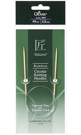 Agujas de Tejer Circulares de bamb/ú Clover Takumi Multicolor Otros 16 tama/ño 7//4,5 mm
